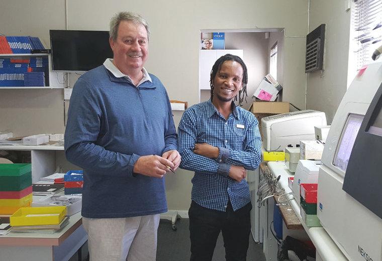 Lab staff at Radue Optometrists